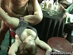 Horny Women Sucking Off And Fucking Strippers At Party