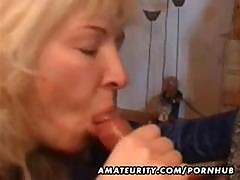 Mature Blonde Housewife Gives A Pov Blowjob And Gets Cum In Her Mouth