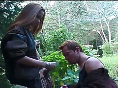 Jungle fuck action for this big dick shemale ana paula