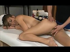 Girl with perfect body enjoys lesbian massage