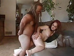 Midget chick sucks and fucks midget cock