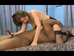 Office Milf in Stockings Flirts and Fucks