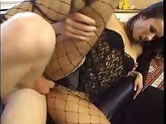Slutty Brunette Bitch Is Hungry For His Man Meat In Her Pussy Patch