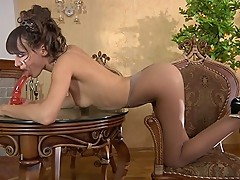 Viola in hot pantyhose video