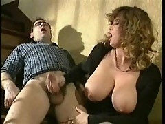 Big tits hoe licked and fucked on stairs