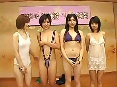 Japanese Girls Are At Some Kind Of Show And Strip Off Their Clothes
