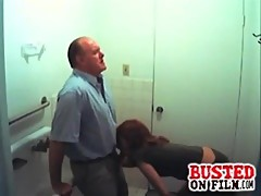 Slutty student sucking profesor gets busted