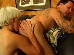 Blonde Mature fucking his Lover