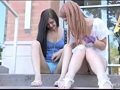 Public Lesbian Scene With Tamara And Lacie