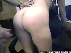 Wife Pussy Play & Cum On Ass