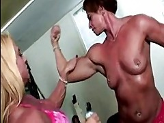 Lil Doll and Miss Hot Butt at Bodybuilders in Heat