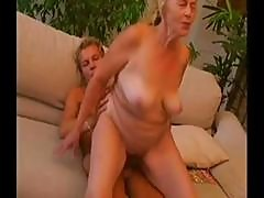 Old Blonde Granny Gets A Young Stud To Blow And Drill Her Pussy